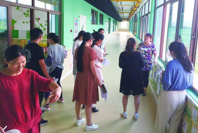 如皋市城东实验幼儿园进行区域环境创设活动照1zhaop